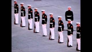 Marines' Silent Drill with an Oops!