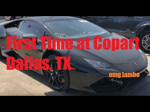 FIRST TIME AT COPART DALLAS EXPERIENCE (LAMBO, VIPER, i8, Things to Know)