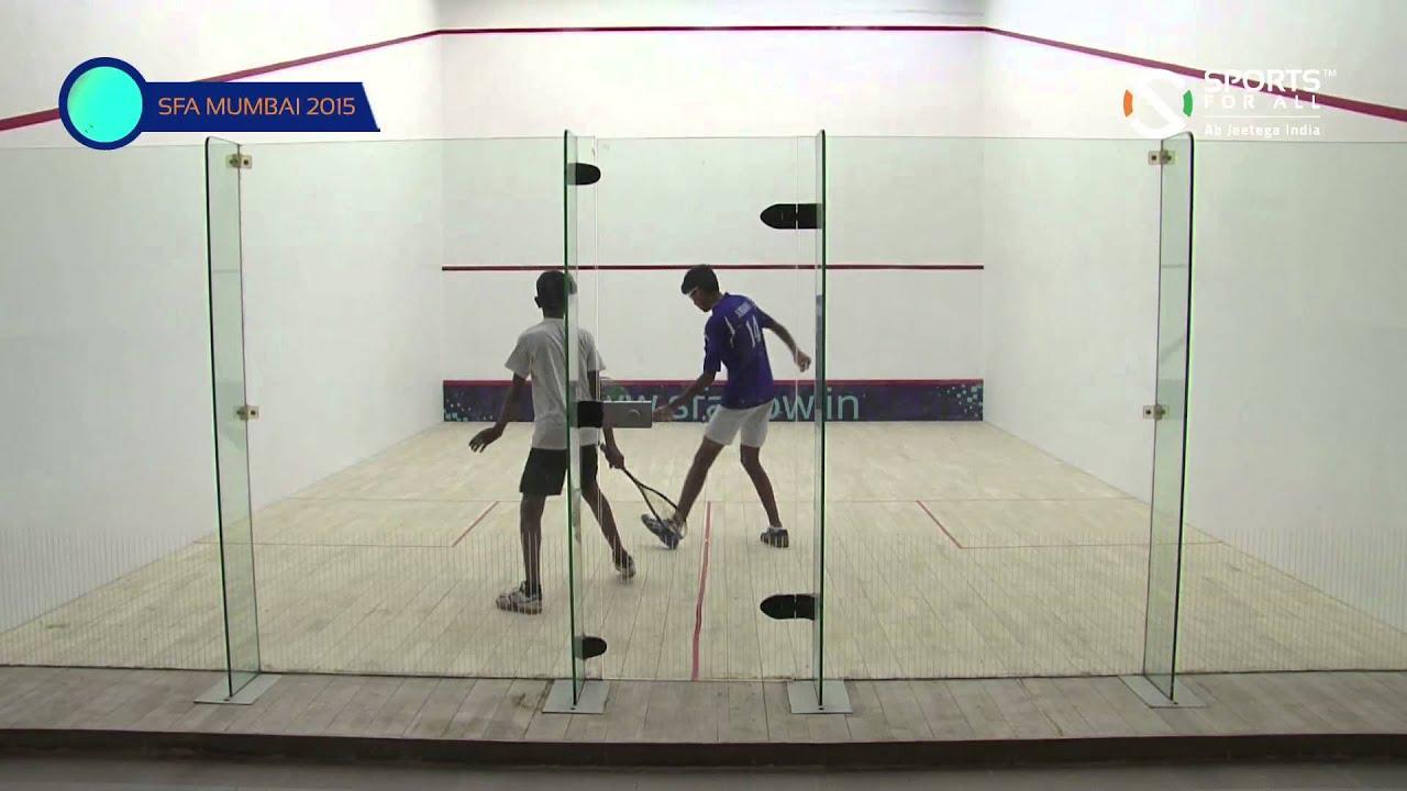 SFA Mumbai 2015 | Squash | Lakhendar Rathore Vs Vedant Ambani | Boys | U15 | R1