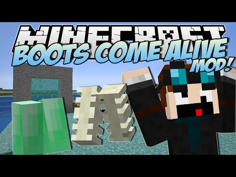 Minecraft | BOOTS COME ALIVE MOD! (Mo' Boots, Animated Boots & More!) | Mod Showcase