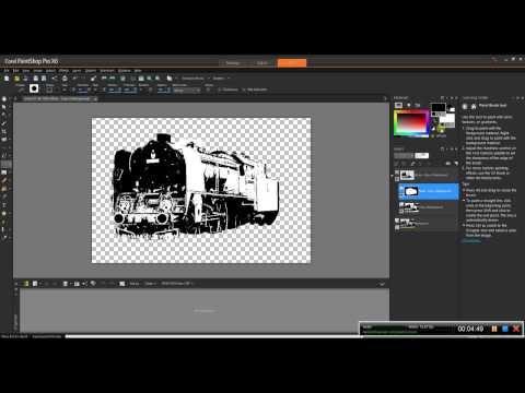 Corel Paint Shop Pro X 6 mieszanie rysunku ze zdjęciem