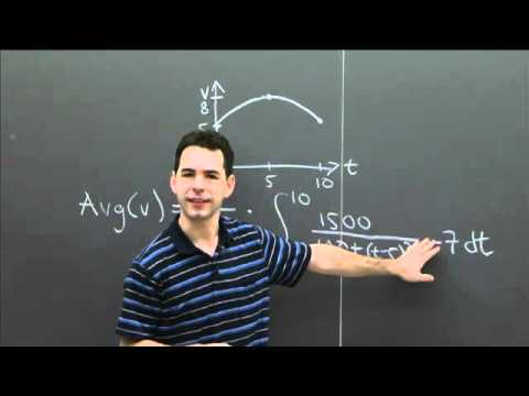 Average Velocity | MIT 18.01SC Single Variable Calculus, Fall 2010
