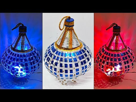 DIY - Lantern/Tealight Holder from plastic bottle | DIY Christmas Decorations Idea