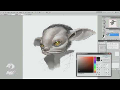 Arenanet - ArenaNet concept artist Matthew Barrett demonstrates how to draw an asura, one of the five playable races in Guild Wars 2.