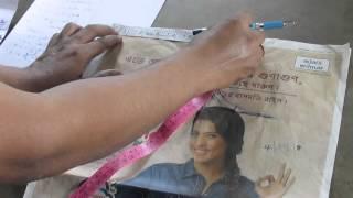 Princess cut Blouse Measurement/Drafting/Pattern/Layout/Cutting/Stitching part 4 of 10