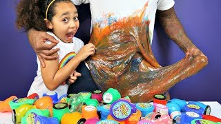 Video DIY GIANT SLIME!! Mixing 50 Tubs Of Noise Putty Slimes | Toys AndMe MP3, 3GP, MP4, WEBM, AVI, FLV Maret 2019