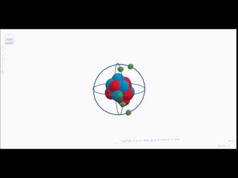 Animated Oxygen Atom