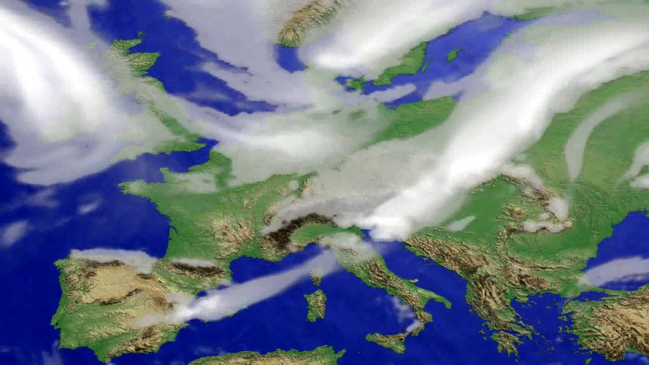 Cloud forecast Europe 2016-08-07