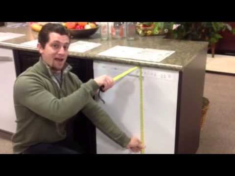 how to measure a dishwasher