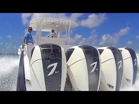 Cамый мощный лодочный мотор в мире Seven Marine 557 и 627 л.c. 6,2 V8 (видео)