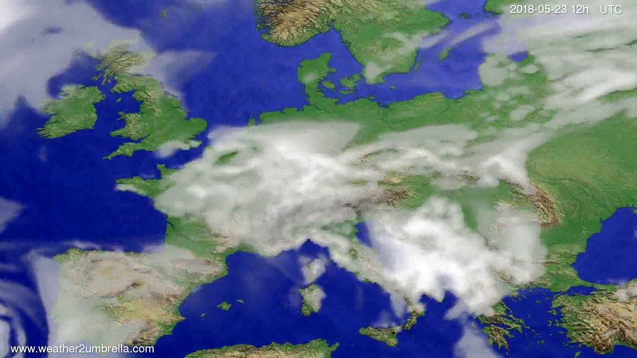 Cloud forecast Europe 2018-05-21