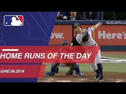 Watch all the home runs from June 6, 2018