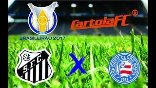 Santos x Bahia ao vivo 23/07/17, Santos ao vivo, Bahia ao vivo, Futebol ao vivo, Parciais Cartola FC, Brasileirão 2017,...