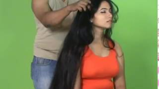 See The Best Long Hair Massage by Man of A Very Beautiful Lady