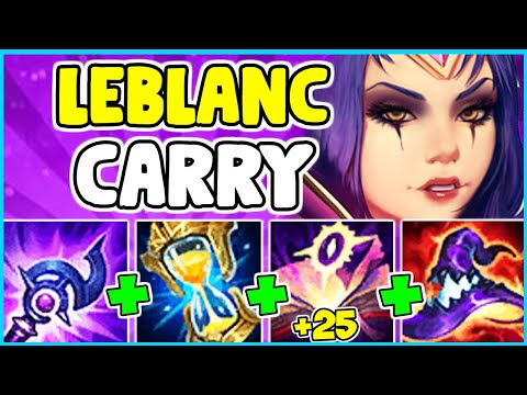HOW TO PLAY LEBLANC MID & SOLO CARRY IN SEASON 11 | Leblanc Guide S11 - League Of Legends