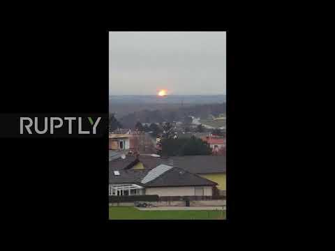 В мережі з`явилося відео вибуху на газовому хабі у Австрії