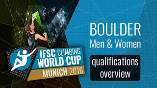 IFSC Climbing World Cup Munich 2016 - Qualifications Overview by International Federation of Sport Climbing