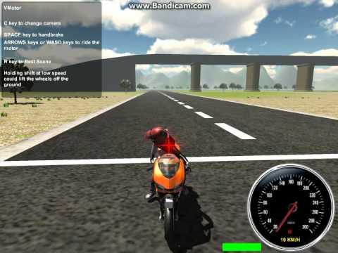 Играем в игру 3D MOTO SIMULATOR (1 Часть)