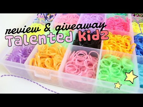 Talented Kidz Rainbow Loom Refill Box Review & Giveaway! | Sweetorials