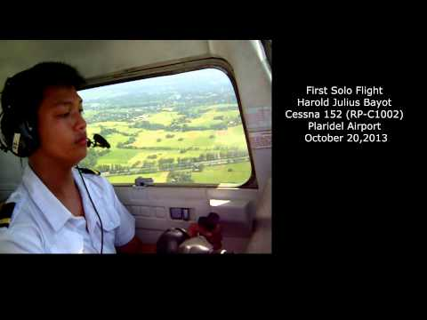an analysis of the topic of the cessna 152 during the first solo flight in the life of a pilot