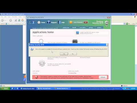 0 Desktop Security 2010 Analysis and Removal