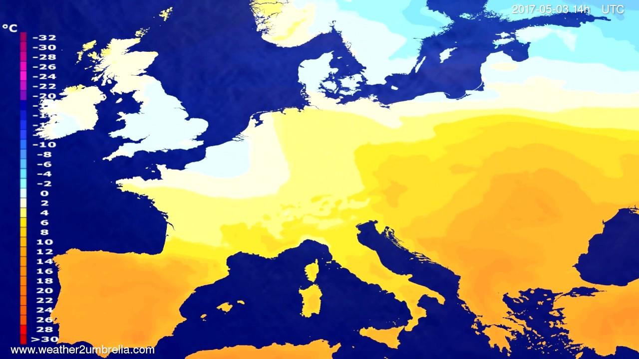 Temperature forecast Europe 2017-05-01