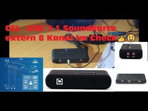 CSL  USB 7.1 Soundkarte extern 8 Kanal im Check👍😃