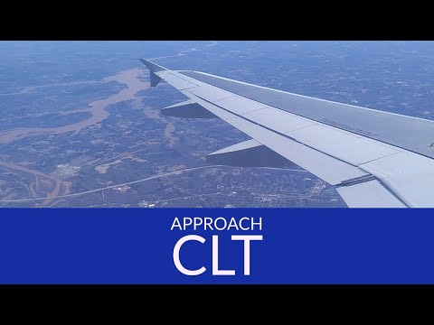 Sunny approach and landing to CLT