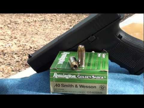 40 S&W Smith & Wesson Golden Saber 180gr Ballistic Gel Test