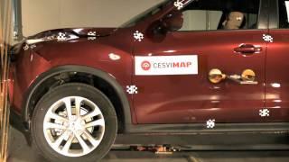 Crash test delantero Nissan Juke en CESVIMAP