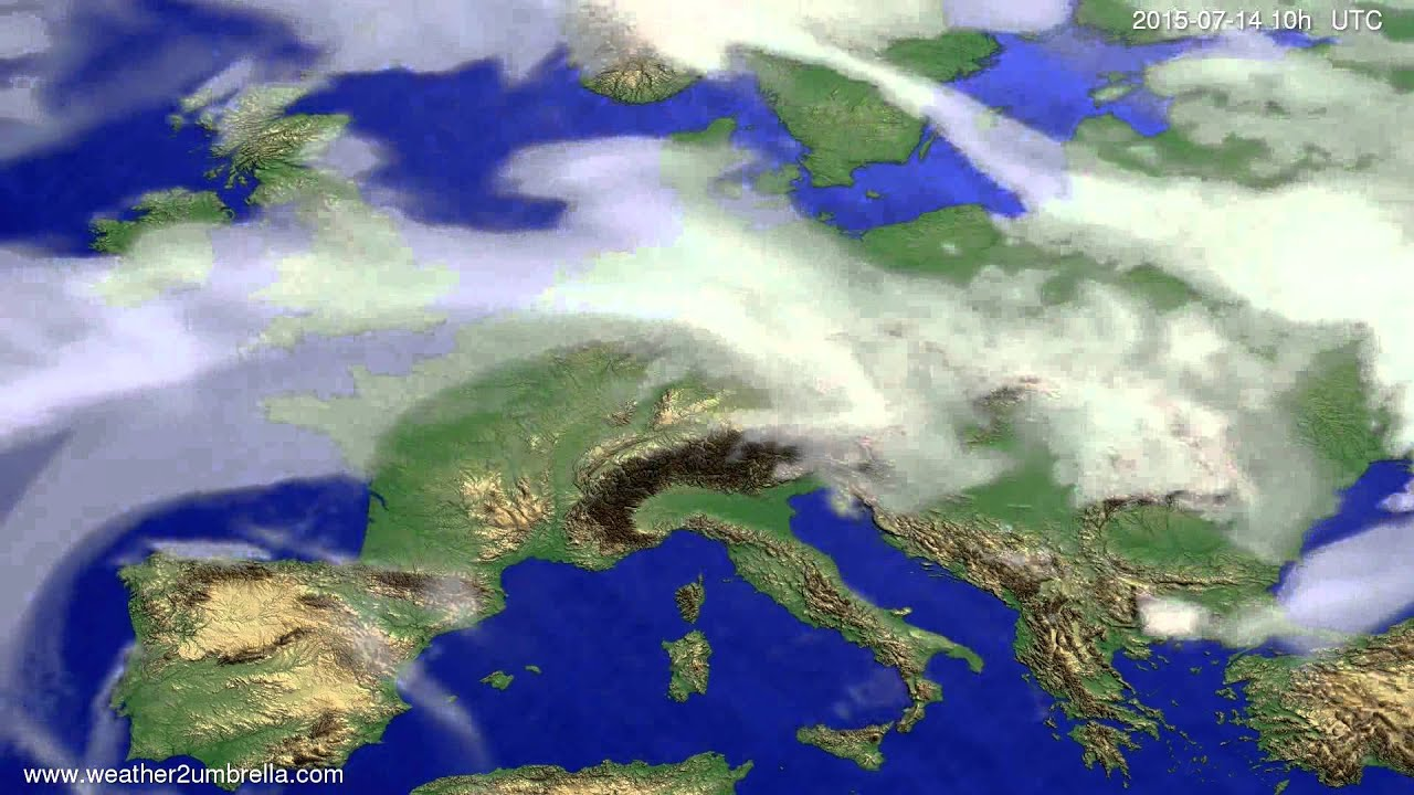 Cloud forecast Europe 2015-07-12