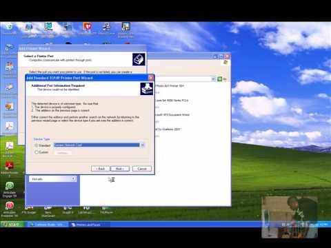 installing Network Printer using Windows XP