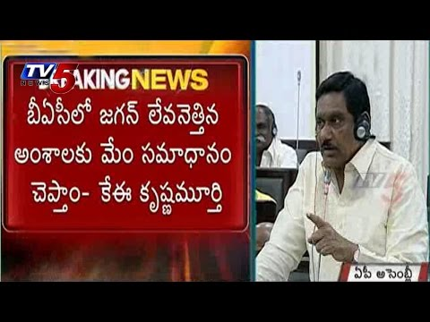 We Answer To Jagan Questions   AP Deputy CM K. E. Krishnamurthy : TV5 News