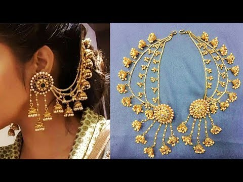 Gorgeous Bahubali Side Jhumka Chain Earring Design
