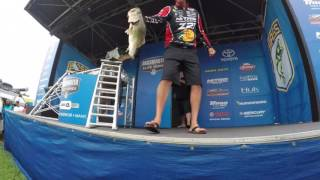 KVD WINS Toledo Bend 2016 - On stage with GoPro