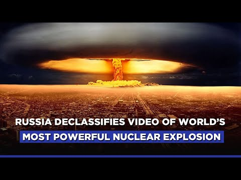 Russia Releases Declassified Video Of Largest-Ever Hydrogen Bomb Blast | Tsar Bomba