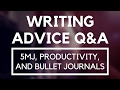 My Thoughts on 5MJ, Productivity Planner, & Bullet Journal ■ Writing Advice Questions & Answers