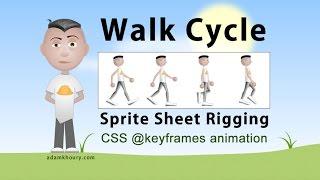 Character Walk Cycle @keyframes Sprite Animation CSS Tutorial