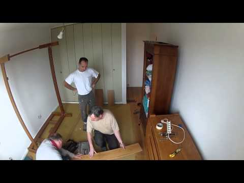 comment demarrer la pose d'un parquet flottant