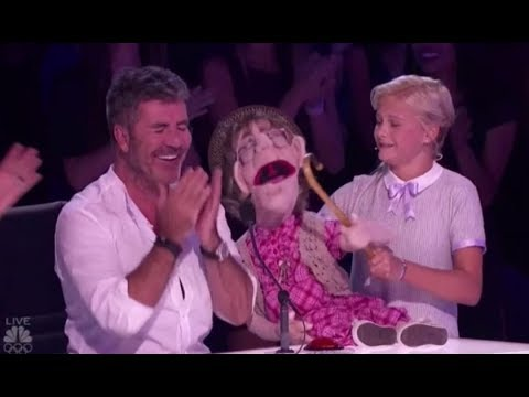 Darci Lynne: Her Naughty Old-lady Puppet 'Edna' Makes Simon Cowell BLUSH!! America's Got Talent