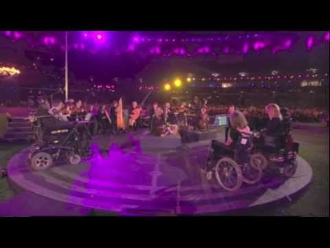 Coldplay 'Strawberry Swing' supported by The British Paraorchestra Paralympics closing ceremony 2012