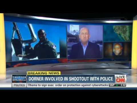 Christopher Dorner in gun battle with authorities   Dorner in Shootout with Police