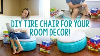 DIY Tire Chair | TUMBLR INSPIRED | Tanner & Courtney - YouTube