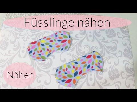 Füsslinge nähen I Socken nähen I Schnittmuster selber machen I Nähanleitung I Deutsch - Finola