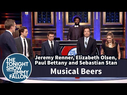 The Cast Of New 'Captain America' Movie And Jimmy Fallon Play 'Musical Beers'