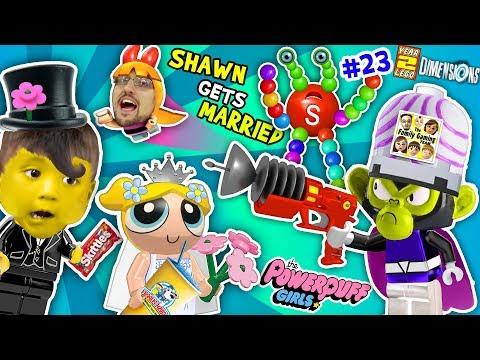 POWERPUFF GIRLS MARRY BABY SHAWN!  FGTEEV Lego Dimensions Giant Colors Skittles Monkey (Year 3 #23) (видео)