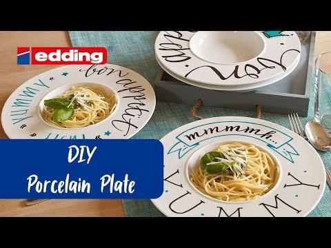 Personalised porcelain crockery set - edding ideas