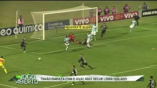 Líder do Campeonato Brasileiro, Corinthians enfrentou o Avaí, ontem (19), na Ressacada, e empatou com a equipe catarinense por 0 a 0.