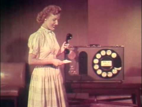 THEY MADE A MOVIE TO TEACH YOU HOW TO DIAL A TELEPHONE!