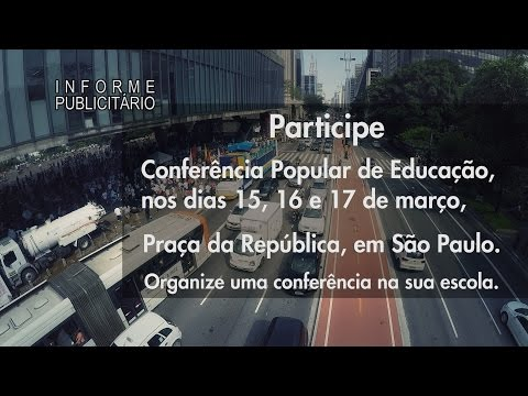 Conferência Popular de Educação - 15, 16 e 17 de março